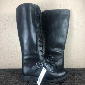 Universal thread knee high combat boots 7.5